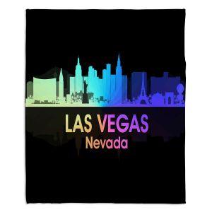 Decorative Fleece Throw Blankets | Angelina Vick - City V Las Vegas Nevada