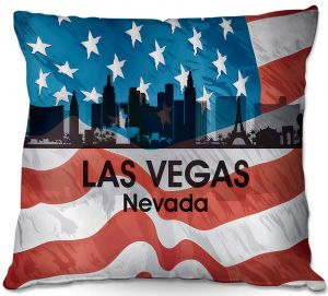 Throw Pillows Decorative Artistic | Angelina Vick - City VI Las Vegas Nevada