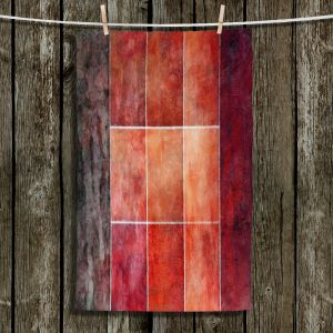 Unique Hanging Tea Towels | Angelina Vick - Lava | Abstract shapes rectangle