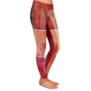 Casual Comfortable Leggings | Angelina Vick - Lava | Abstract shapes rectangle