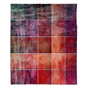 Artistic Sherpa Pile Blankets | Angelina Vick - Lava Shades | Abstract shapes rectangle