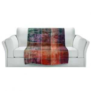 Artistic Sherpa Pile Blankets   Angelina Vick - Lava Shades   Abstract shapes rectangle