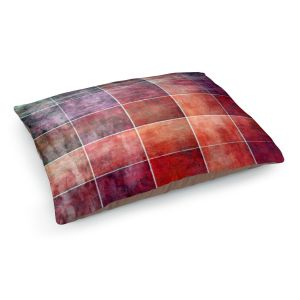 Decorative Dog Pet Beds | Angelina Vick - Lava Shades | Abstract shapes rectangle