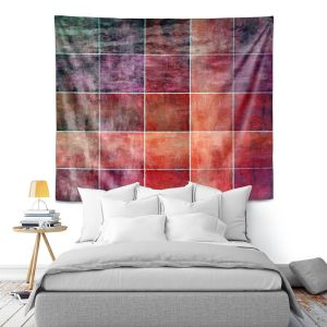 Artistic Wall Tapestry | Angelina Vick - Lava Shades | Abstract shapes rectangle