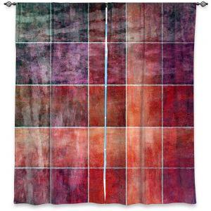 Decorative Window Treatments | Angelina Vick - Lava Shades | Abstract shapes rectangle