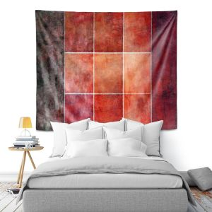 Artistic Wall Tapestry | Angelina Vick - Lava | Abstract shapes rectangle