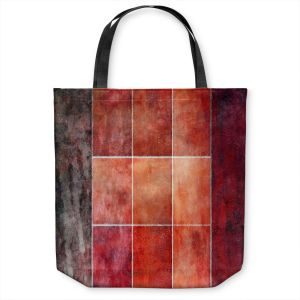 Unique Shoulder Bag Tote Bags | Angelina Vick - Lava | Abstract shapes rectangle