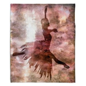 Artistic Sherpa Pile Blankets | Angelina Vick - Learning The Steps 2 | silhouette ballerina dancer