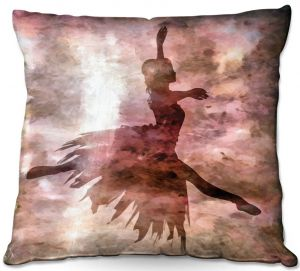 Throw Pillows Decorative Artistic | Angelina Vick - Learning The Steps 2 | silhouette ballerina dancer