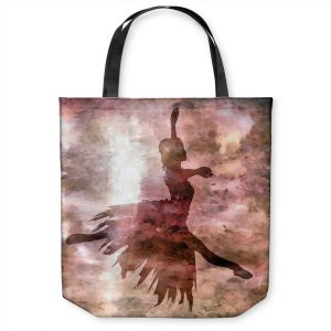 Unique Shoulder Bag Tote Bags | Angelina Vick - Learning The Steps 2 | silhouette ballerina dancer