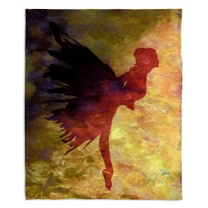 Decorative Fleece Throw Blankets | Angelina Vick - Learning The Steps 5 | silhouette ballerina dancer