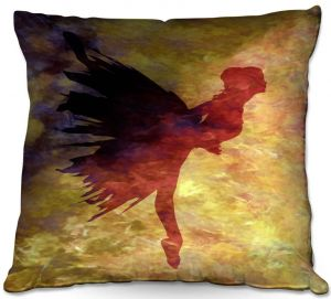 Throw Pillows Decorative Artistic | Angelina Vick - Learning The Steps 5 | silhouette ballerina dancer