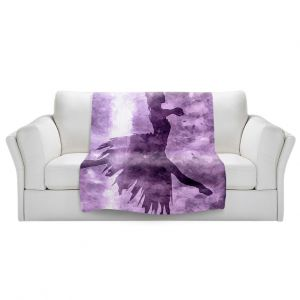 Artistic Sherpa Pile Blankets | Angelina Vick - Learning The Steps 6 | silhouette ballerina dancer