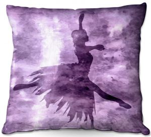 Decorative Outdoor Patio Pillow Cushion | Angelina Vick - Learning The Steps 6 | silhouette ballerina dancer