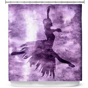 Premium Shower Curtains | Angelina Vick - Learning The Steps 6 | silhouette ballerina dancer