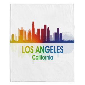 Decorative Fleece Throw Blankets | Angelina Vick - City I Los Angeles California
