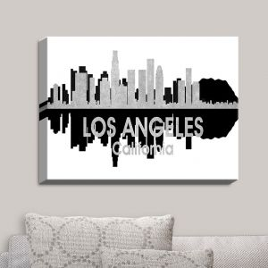 Decorative Canvas Wall Art   Angelina Vick - City IV Los Angeles California   City Skyline Mirror Image