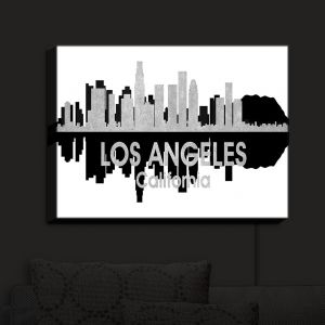 Nightlight Sconce Canvas Light | Angelina Vick - City IV Los Angeles California | City Skyline Mirror Image