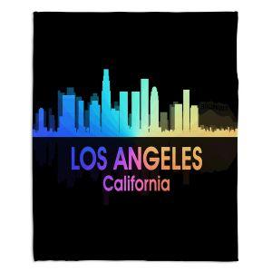 Decorative Fleece Throw Blankets | Angelina Vick - City V Los Angeles California