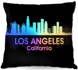 Throw Pillows Decorative Artistic | Angelina Vick - City V Los Angeles California