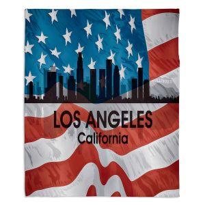 Decorative Fleece Throw Blankets | Angelina Vick - City VI Los Angeles California