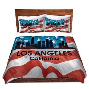 Artistic Duvet Covers and Shams Bedding | Angelina Vick - City VI Los Angeles California