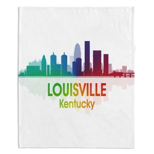 Decorative Fleece Throw Blankets | Angelina Vick - City I Louisville Kentucky