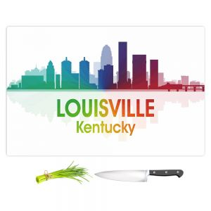 Artistic Kitchen Bar Cutting Boards | Angelina Vick - City I Louisville Kentucky