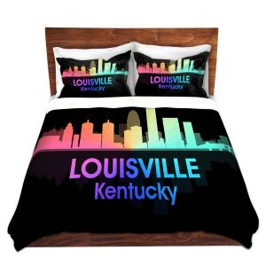 Artistic Duvet Covers and Shams Bedding | Angelina Vick - City V Louisville Kentucky