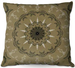Throw Pillows Decorative Artistic | Angelina Vick - Medallion 1 Olive | mandala circle geometric pattern