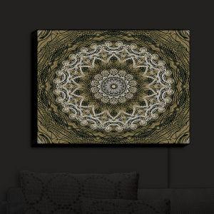 Nightlight Sconce Canvas Light | Angelina Vick - Medallion 5 Olive