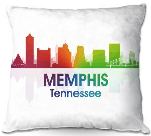 Decorative Outdoor Patio Pillow Cushion | Angelina Vick - City I Memphis Tennessee