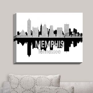 Decorative Canvas Wall Art | Angelina Vick - City IV Memphis Tennessee | City Skyline Mirror Image