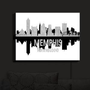 Nightlight Sconce Canvas Light | Angelina Vick - City IV Memphis Tennessee | City Skyline Mirror Image