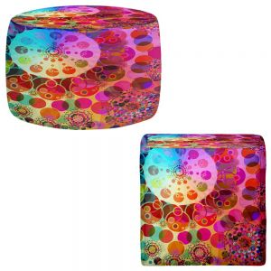 Round and Square Ottoman Foot Stools | Angelina Vick - Merry Go Round I