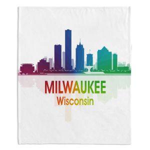 Decorative Fleece Throw Blankets | Angelina Vick - City I Milwaukee Wisconsin