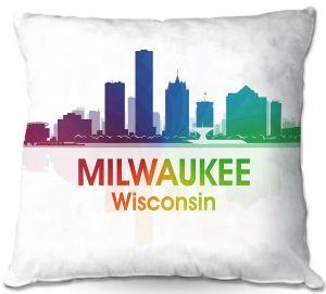 Decorative Outdoor Patio Pillow Cushion | Angelina Vick - City I Milwaukee Wisconsin