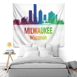Artistic Wall Tapestry | Angelina Vick - City I Milwaukee Wisconsin