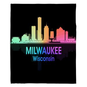Decorative Fleece Throw Blankets | Angelina Vick - City V Milwaukee Wisconsin
