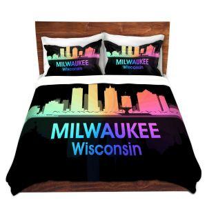 Artistic Duvet Covers and Shams Bedding   Angelina Vick - City V Milwaukee Wisconsin