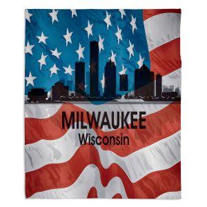 Decorative Fleece Throw Blankets | Angelina Vick - City VI Milwaukee Wisconsin