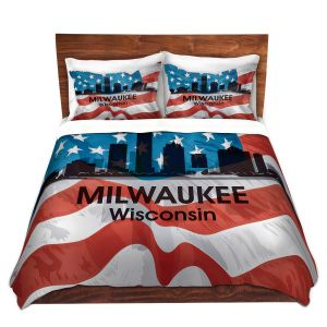 Artistic Duvet Covers and Shams Bedding | Angelina Vick - City VI Milwaukee Wisconsin
