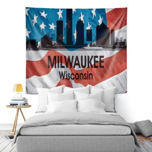 Artistic Wall Tapestry | Angelina Vick - City VI Milwaukee Wisconsin