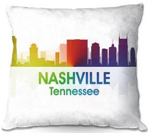 Decorative Outdoor Patio Pillow Cushion | Angelina Vick - City I Nashville Tennessee