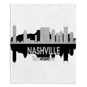 Decorative Fleece Throw Blankets | Angelina Vick - City IV Nashville Tennessee