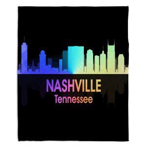 Decorative Fleece Throw Blankets | Angelina Vick - City V Nashville Tennessee