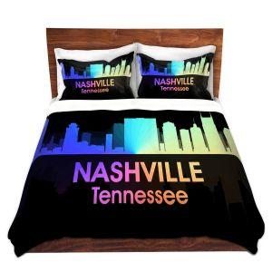 Artistic Duvet Covers and Shams Bedding   Angelina Vick - City V Nashville Tennessee