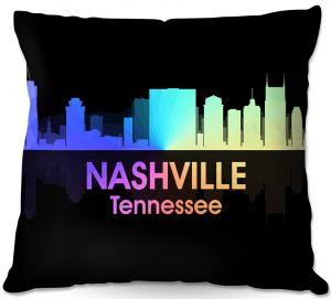 Decorative Outdoor Patio Pillow Cushion | Angelina Vick - City V Nashville Tennessee