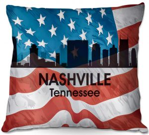 Throw Pillows Decorative Artistic | Angelina Vick - City VI Nashville Tennessee