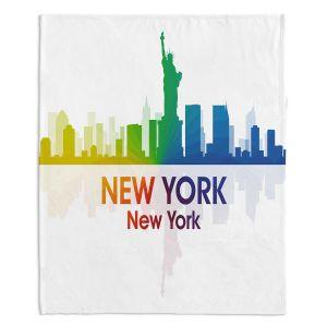 Decorative Fleece Throw Blankets | Angelina Vick - City I New York New York
